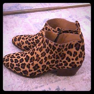 Jcrew factory leopard boots